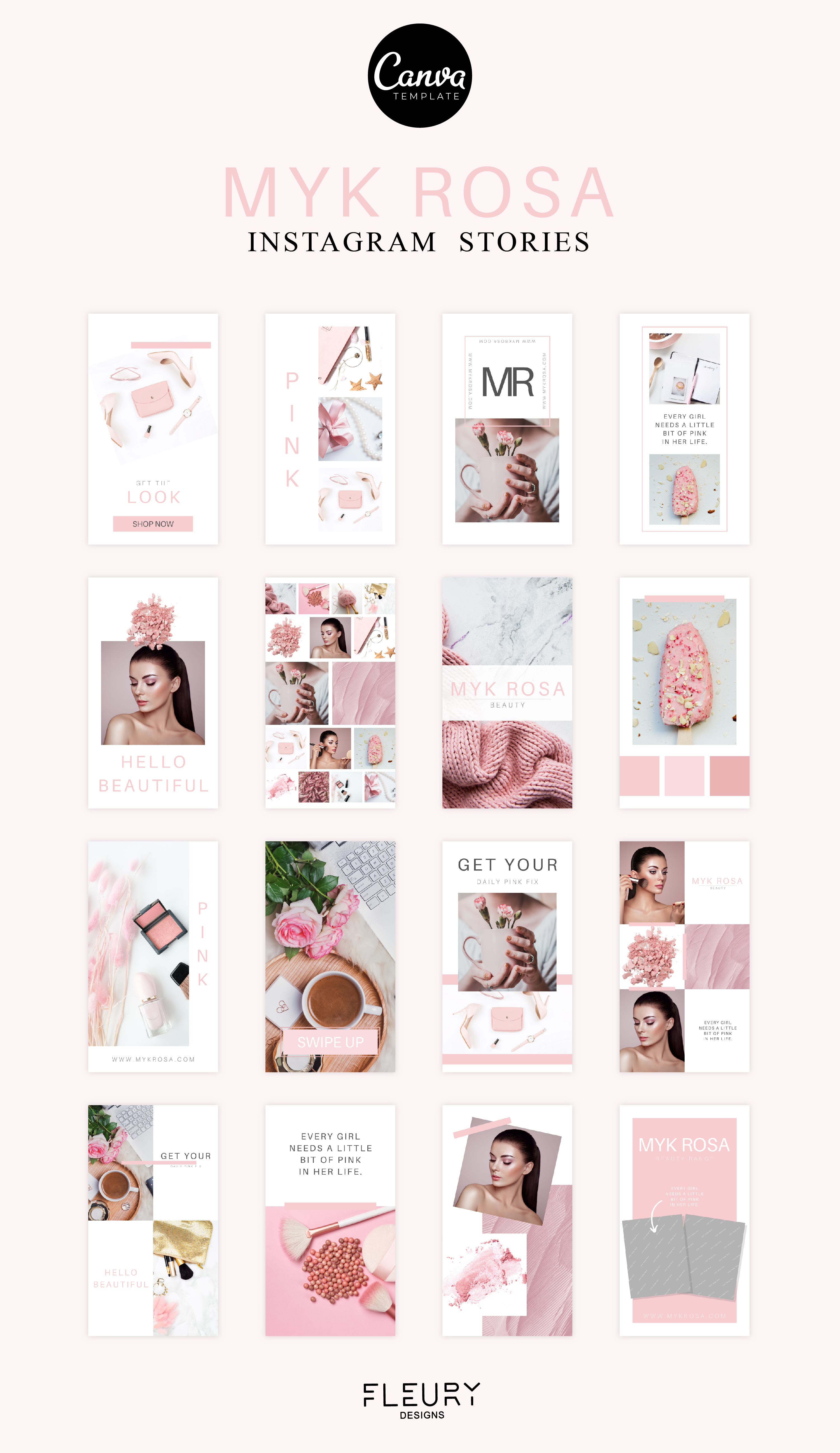 Instagram Story Canva Template - Myk Rosa example image 4