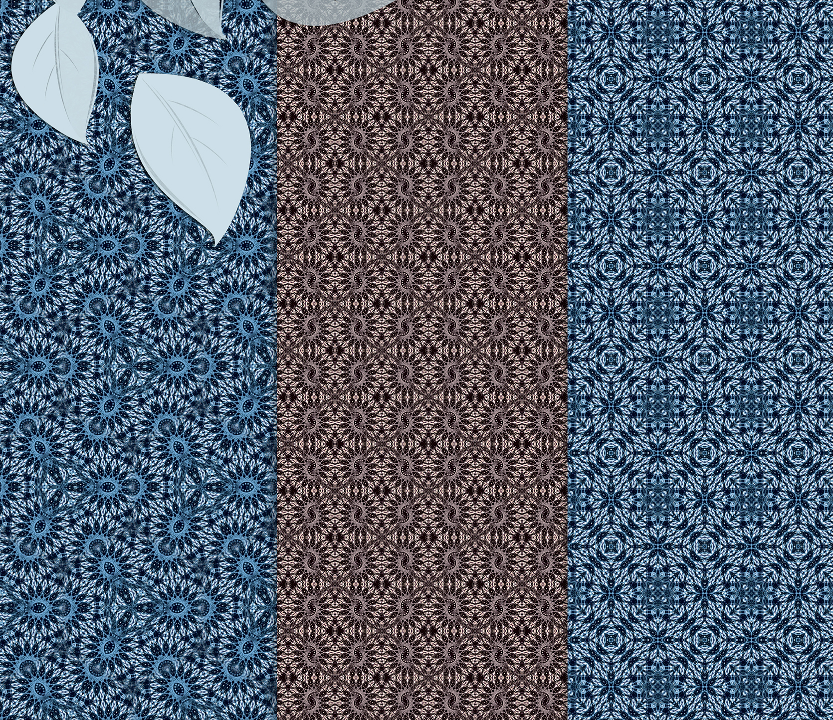 Beige and blue abstract, knitted patterns, Scrapbook Paper example image 4