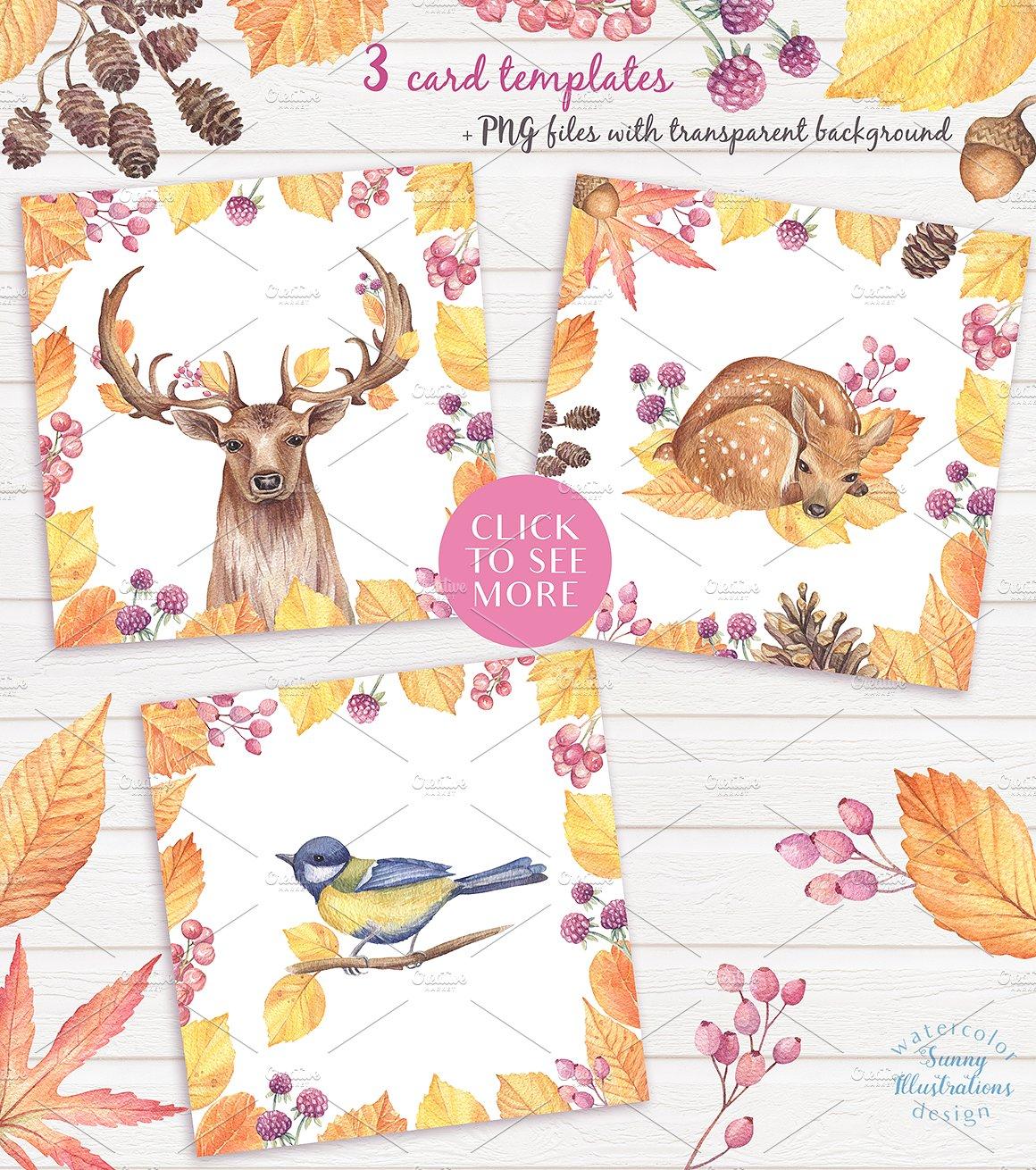 Happy Autumn - Watercolor Set example image 9