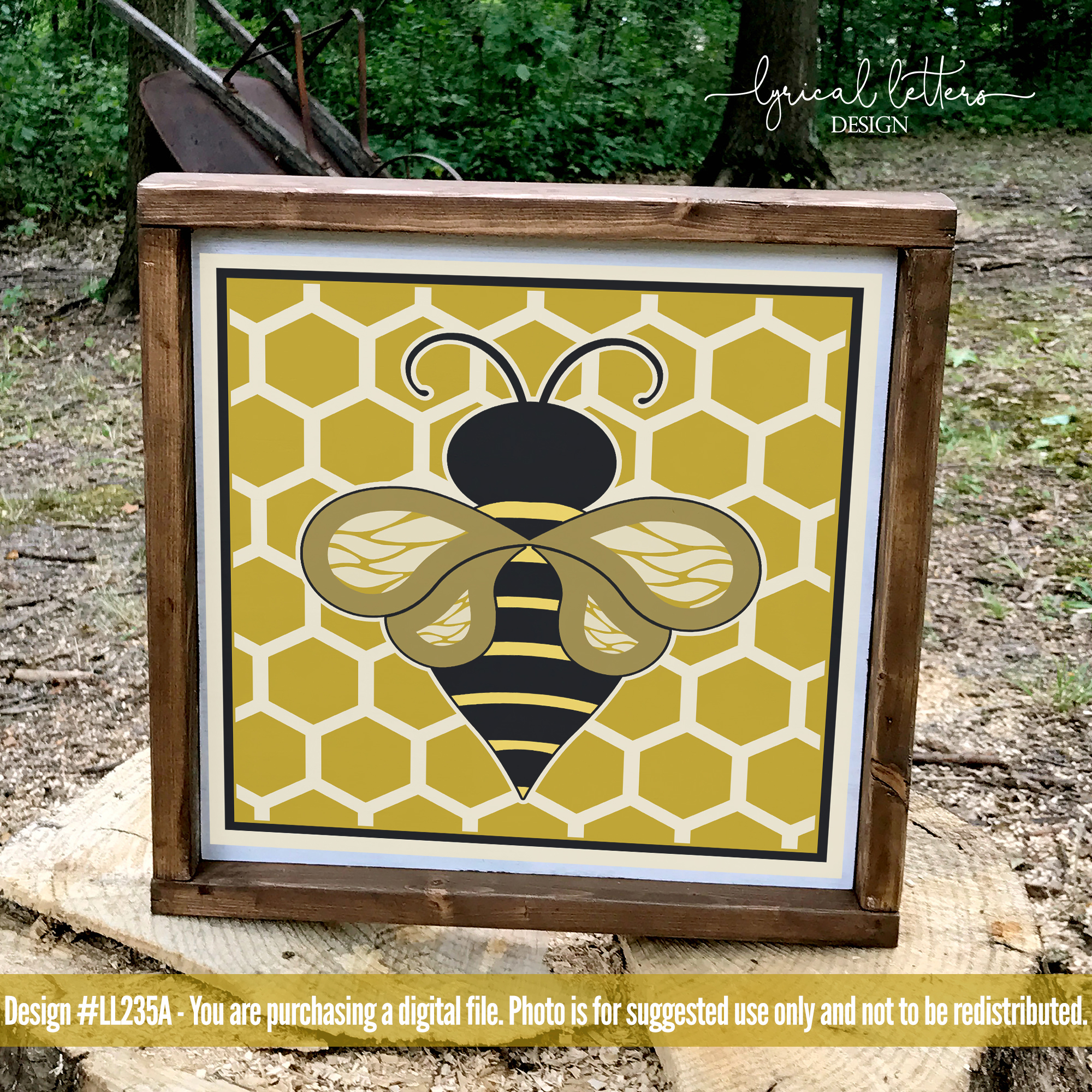 Honeybee Block Design Spring SVG DXF FCM LL235A example image 2