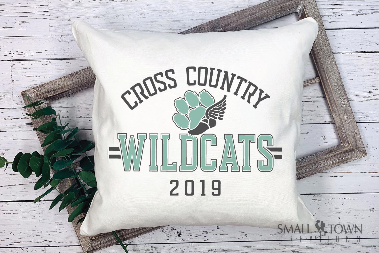 Wildcat Cross Country, Paw Print, PRINT, CUT & DESIGN example image 3