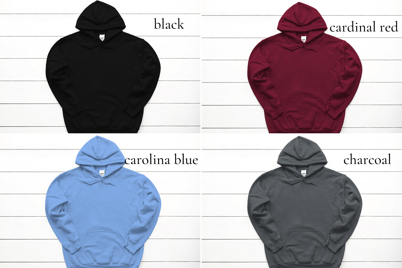 Hoodie Mockup Bundle Gildan 18500 Basic hoodie mockups example image 2