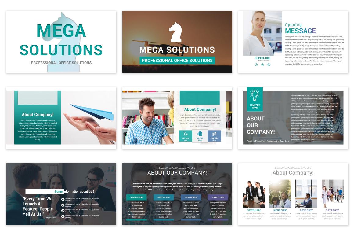 Mega Solutions Keynote Template example image 4