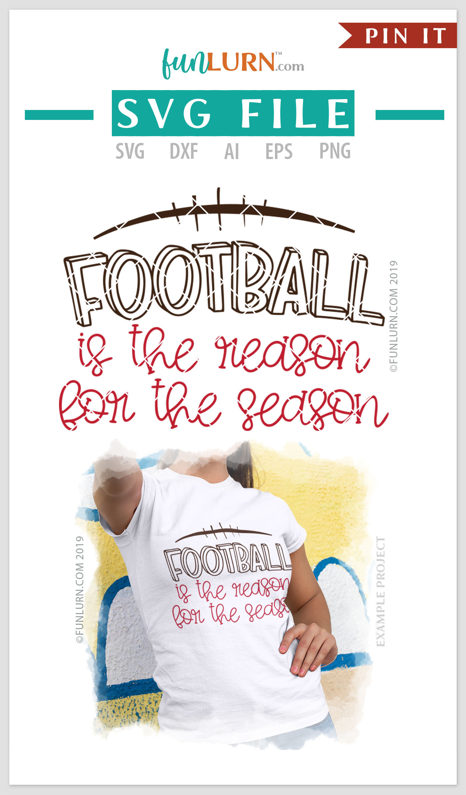 Football is the Reason For the Season SVG Cut File example image 4