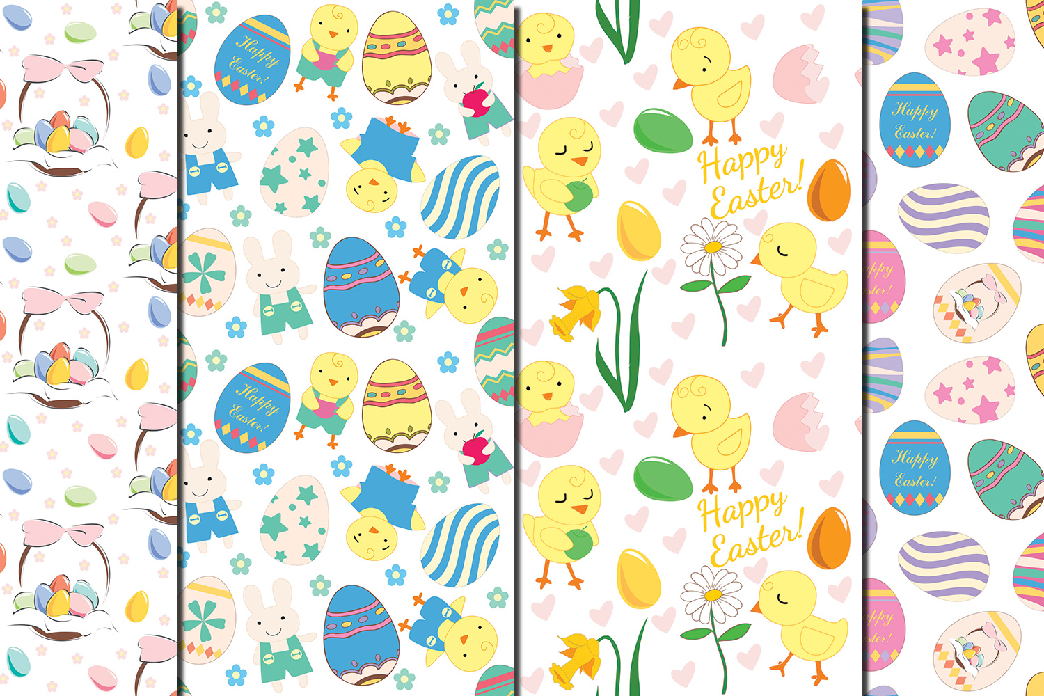 Happy Easter seamless digital paper pack example image 5
