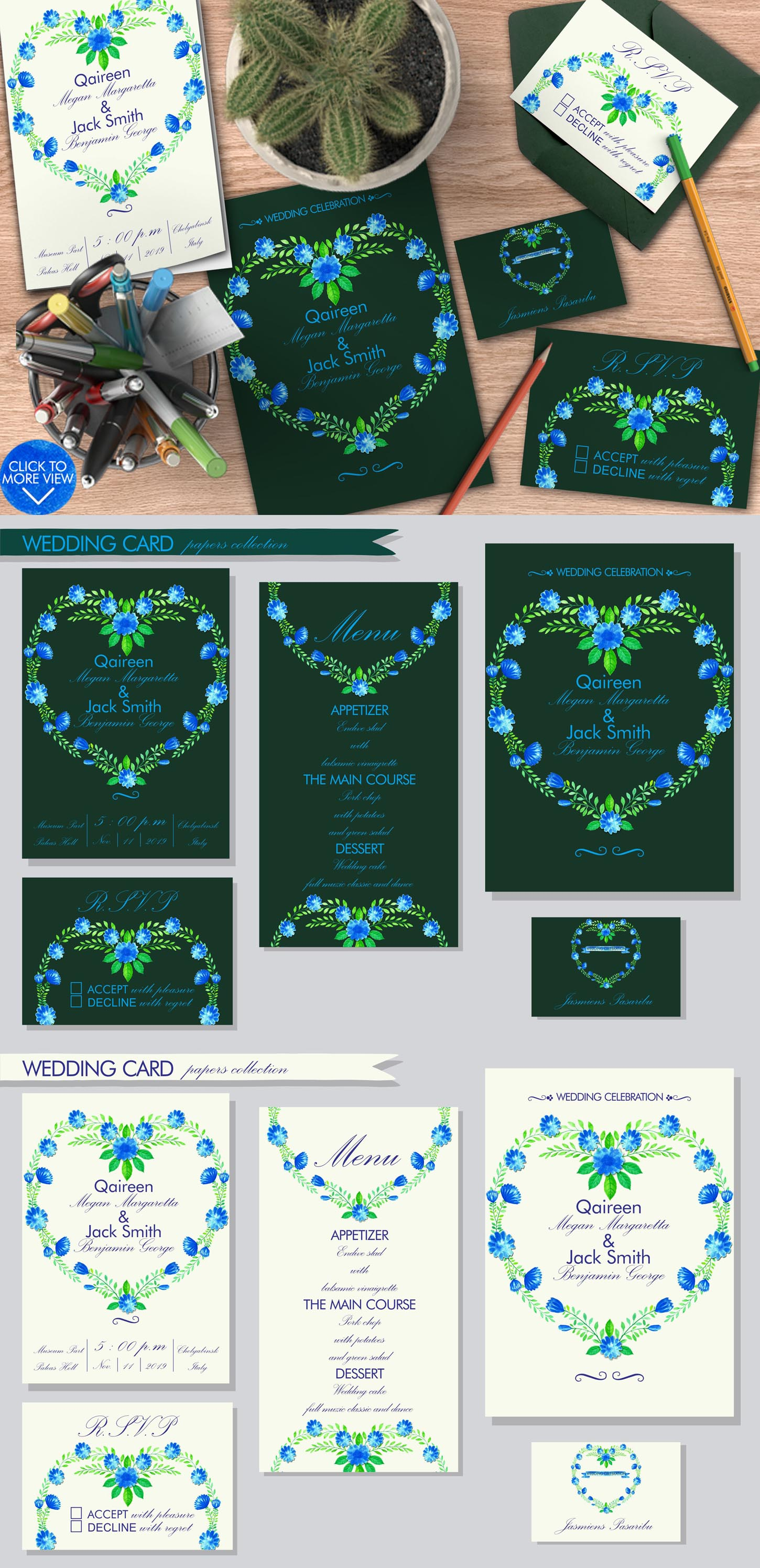 Simple Blue Floral example image 7