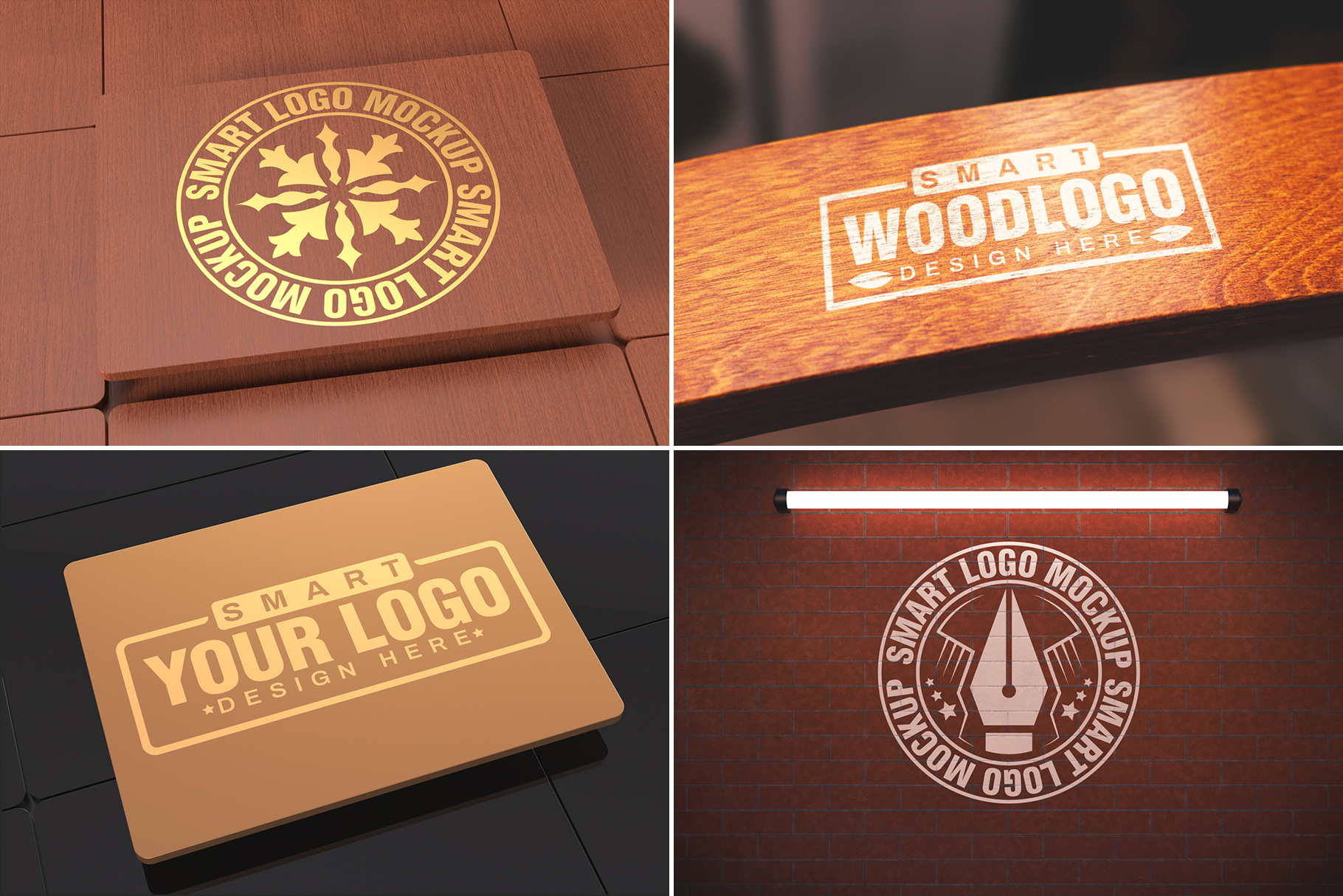100 Logo Mockups Bundle Vol.3 example image 13