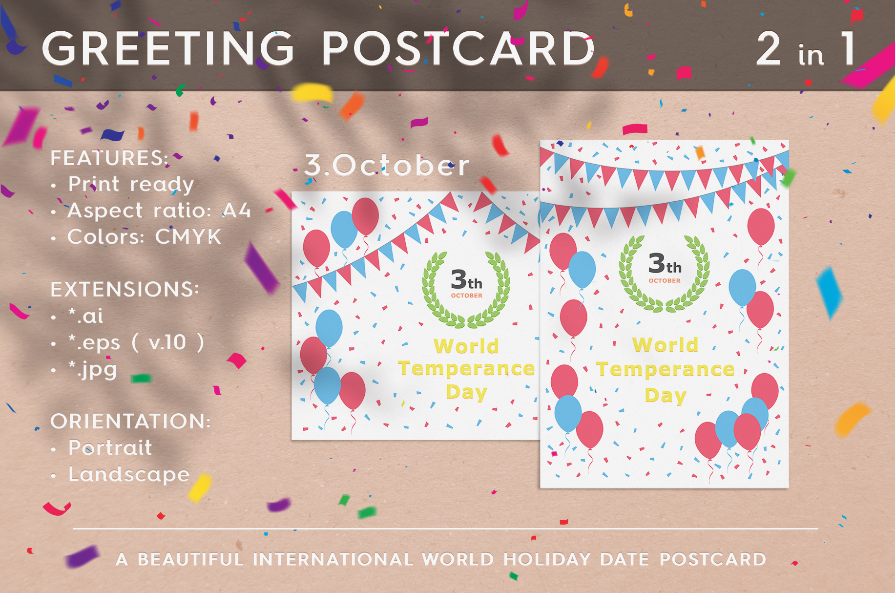 World Temperance Day - October 03 example image 1