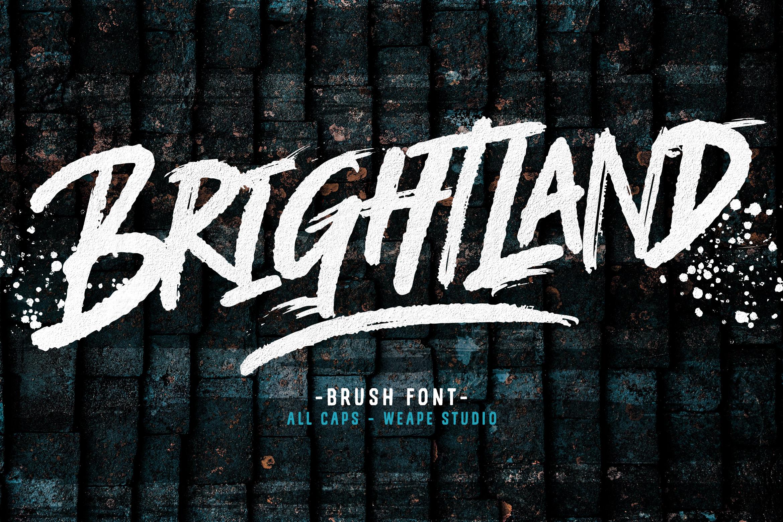 Brightland Brush Font example image 1