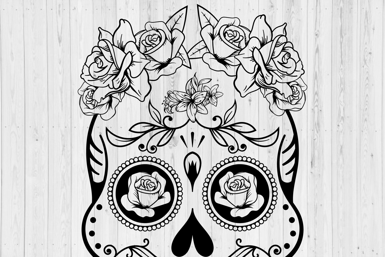 Sugar Skull SVG cut file example image 2