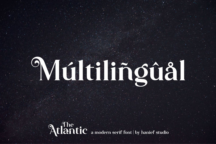 The Atlantic//Modern Serif Font example image 9