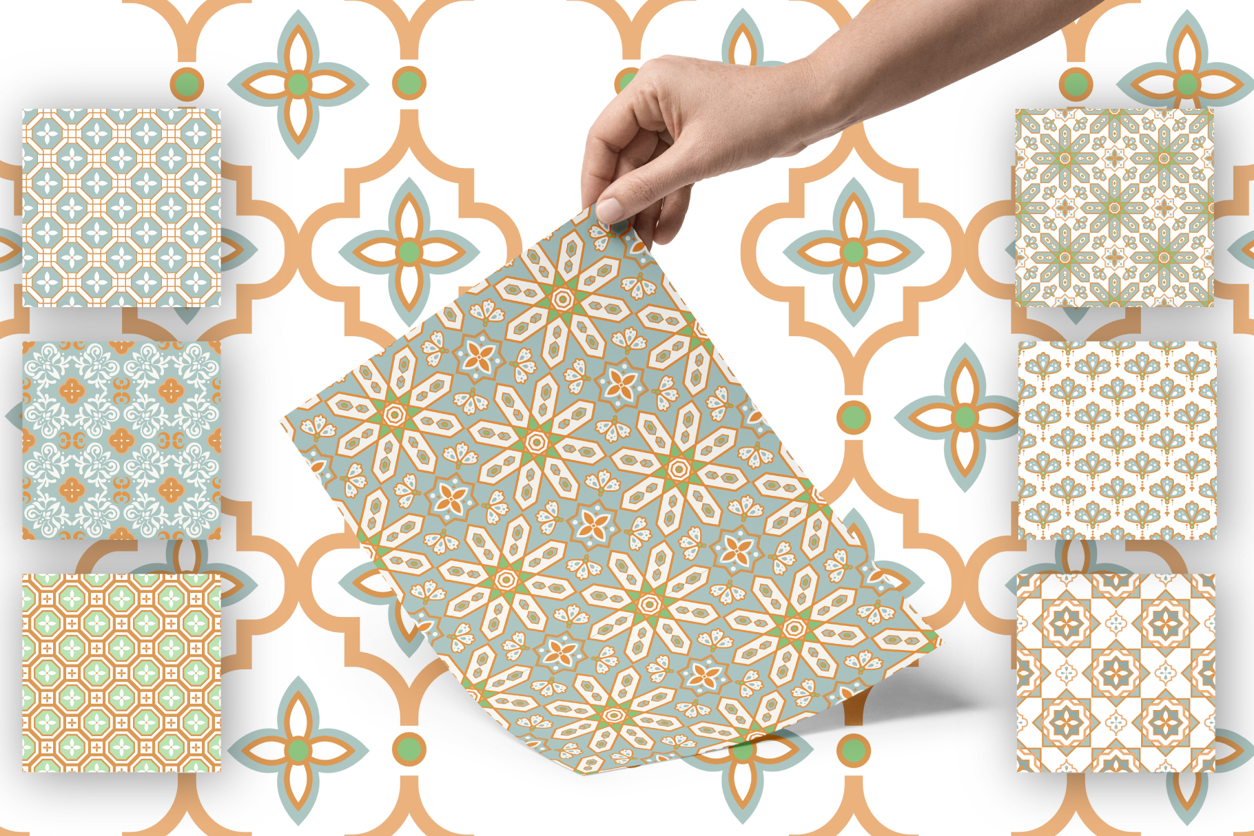 Moroccan Tiles - 20 patterns example image 6