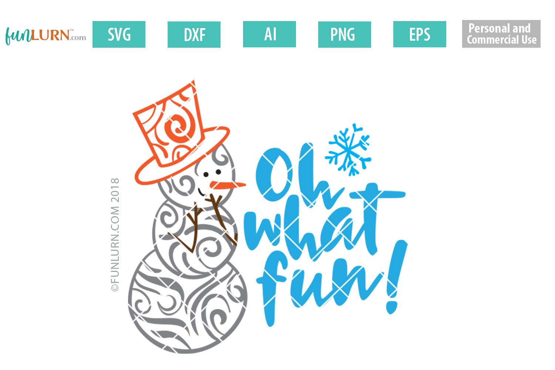 Swirly Snowman Bundle SVG example image 5