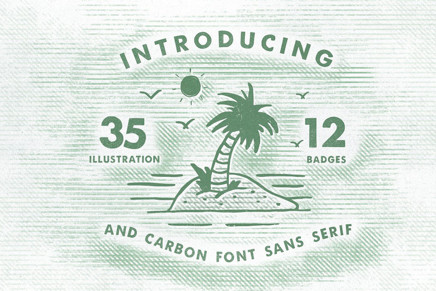 Carbon illustration,badges and font example image 7
