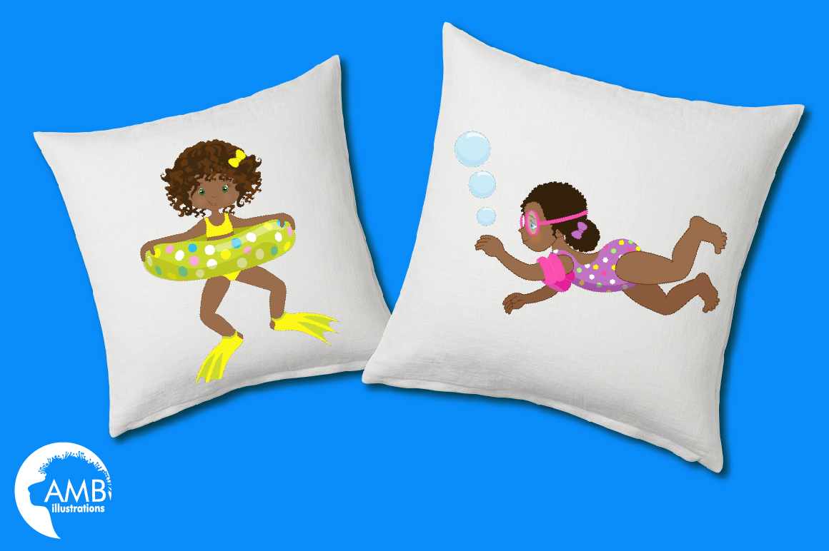 Pool party Mega clipart, graphics pack AMB-1998 example image 5