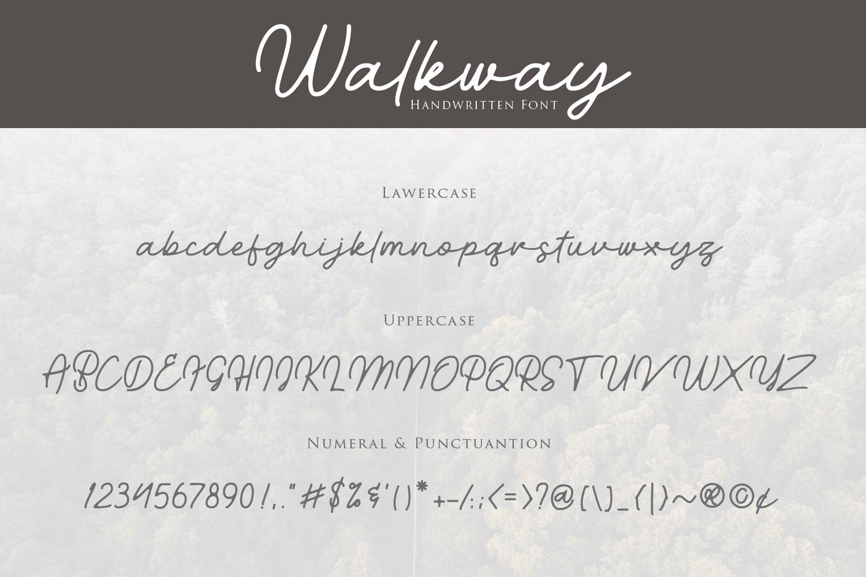 Walkway Font  Bonus Vector example image 8