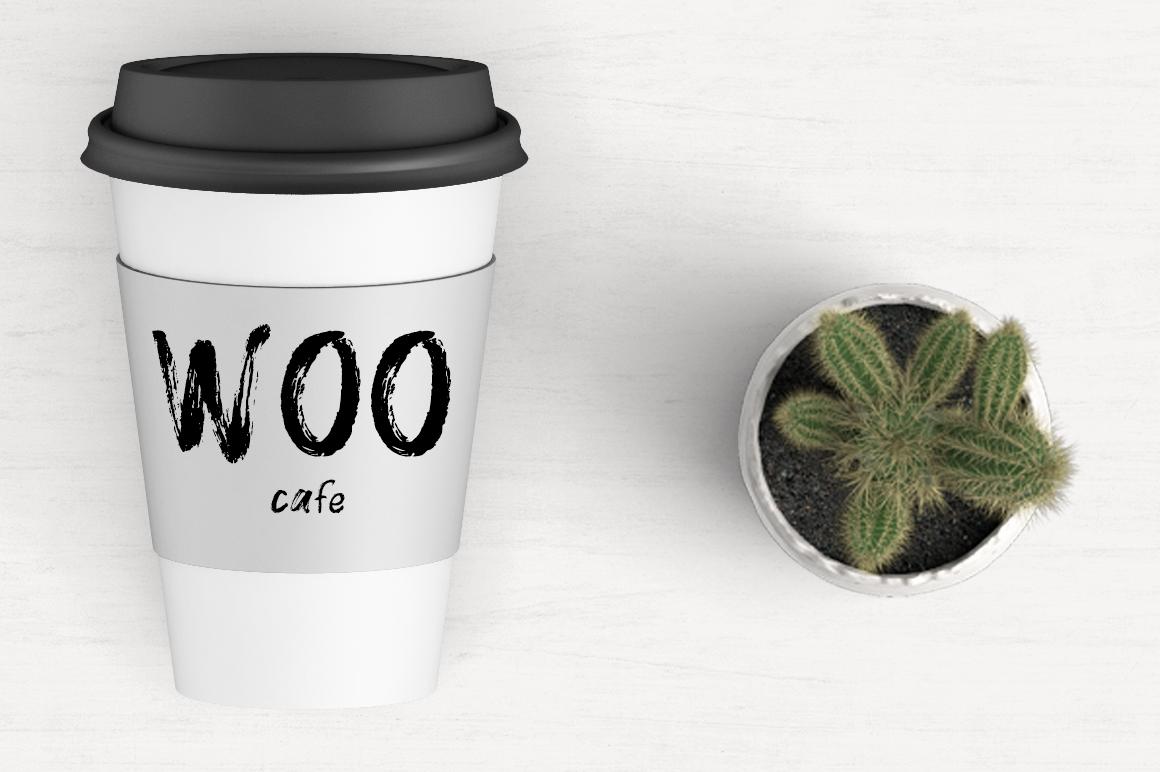 WOO Dry Brush Script Typeface example image 2