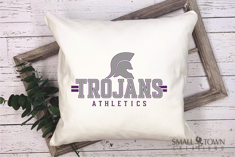 Trojans Athletics, Team, Sorts, logo, PRINT, CUT & DESIGN example image 3
