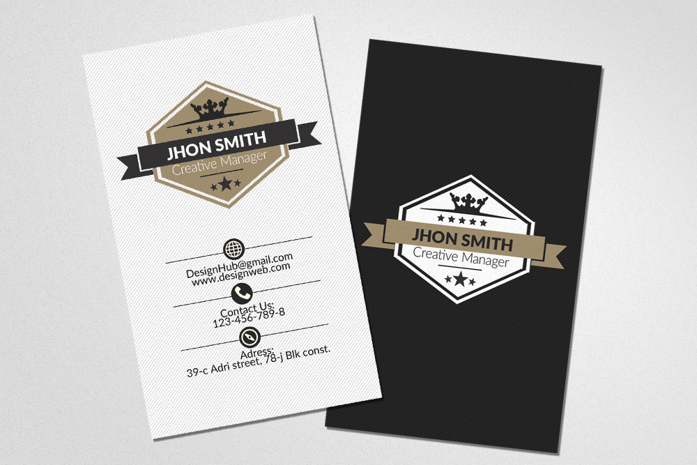 Vertical Business Cards Psd example image 3