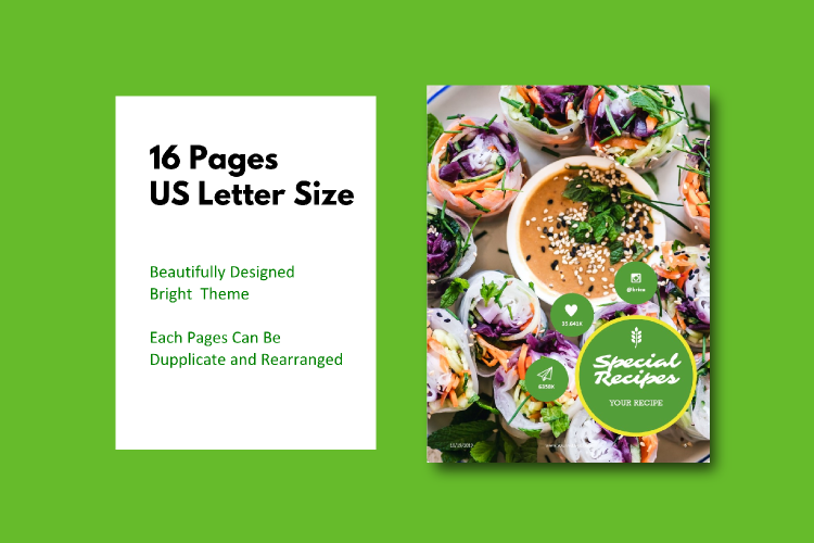 Vegetarian Recipe eBook Template Theme PowerPoint example image 4