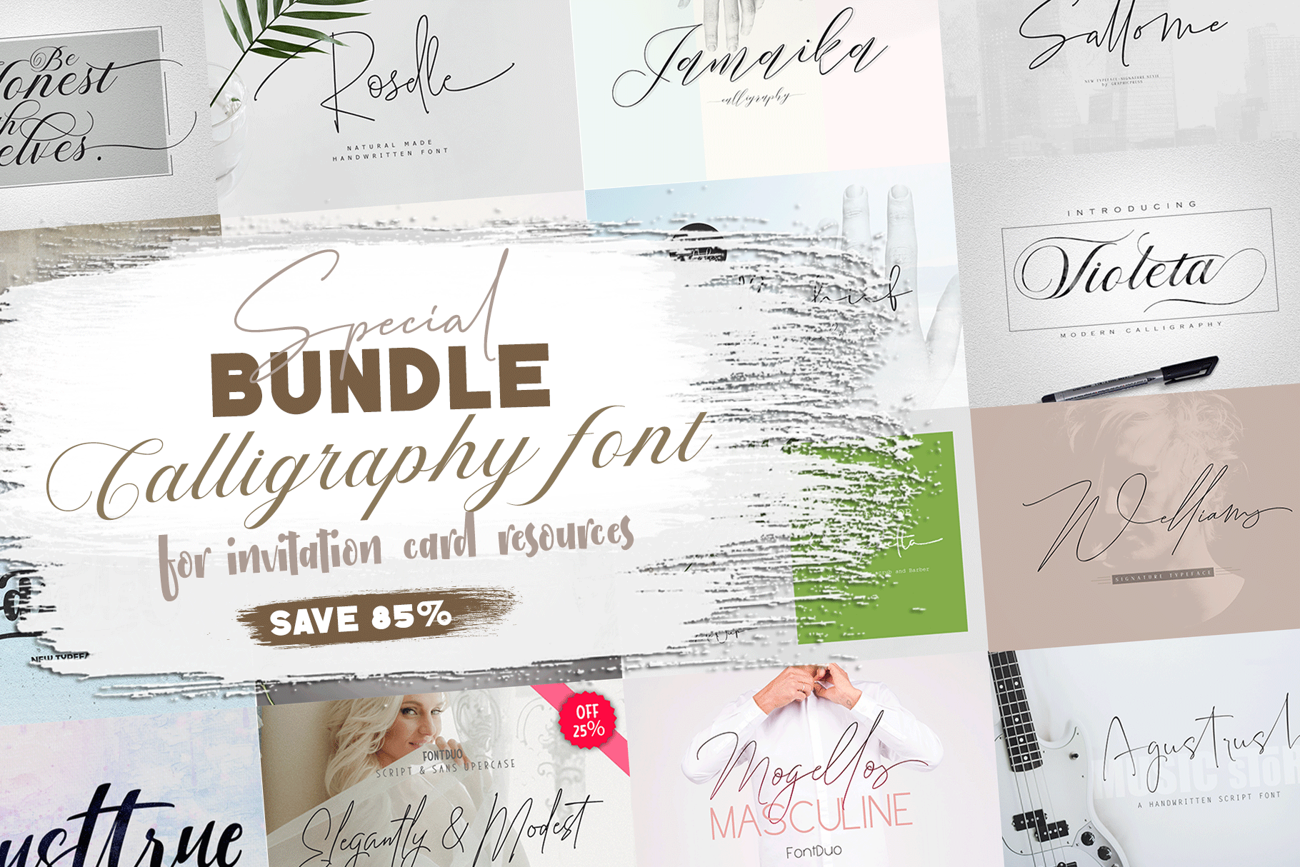 Special Bundle Calligraphy example image 1