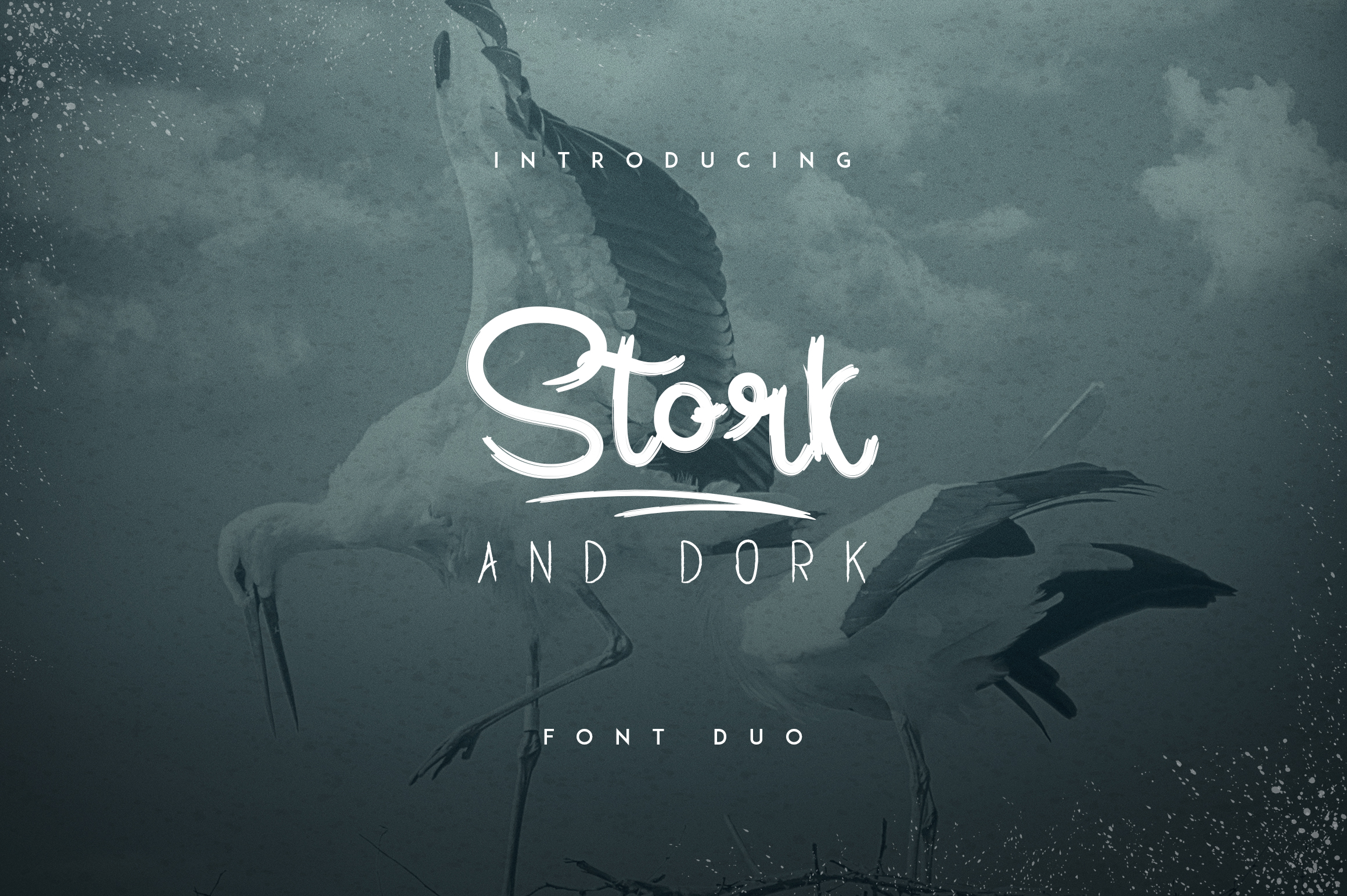 Stork and Dork font duo example image 1