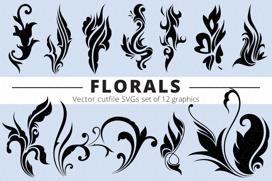 SVG Florals Cutfiles Bundle Pack of 270 vector graphic shape example image 14