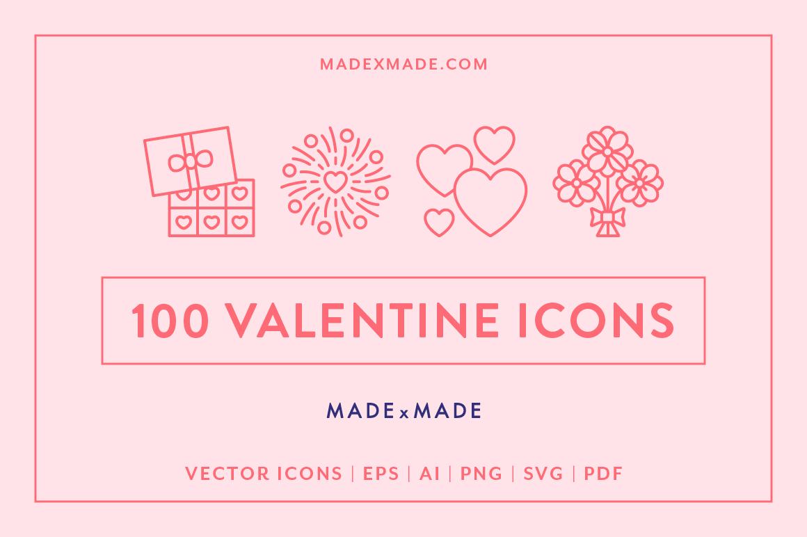 Line Icons  Valentines example image 1