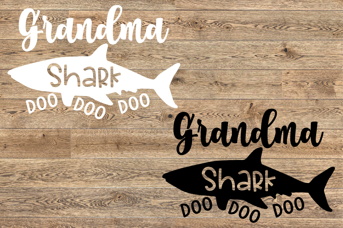 Grandma Shark SVG Doo Doo Doo Family Birthday Sea 1306S example image 2