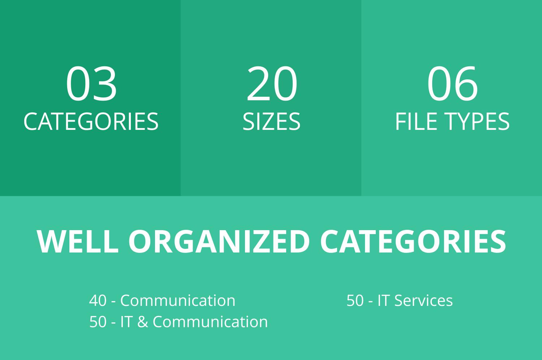 140 IT & Communication Flat Icons example image 2