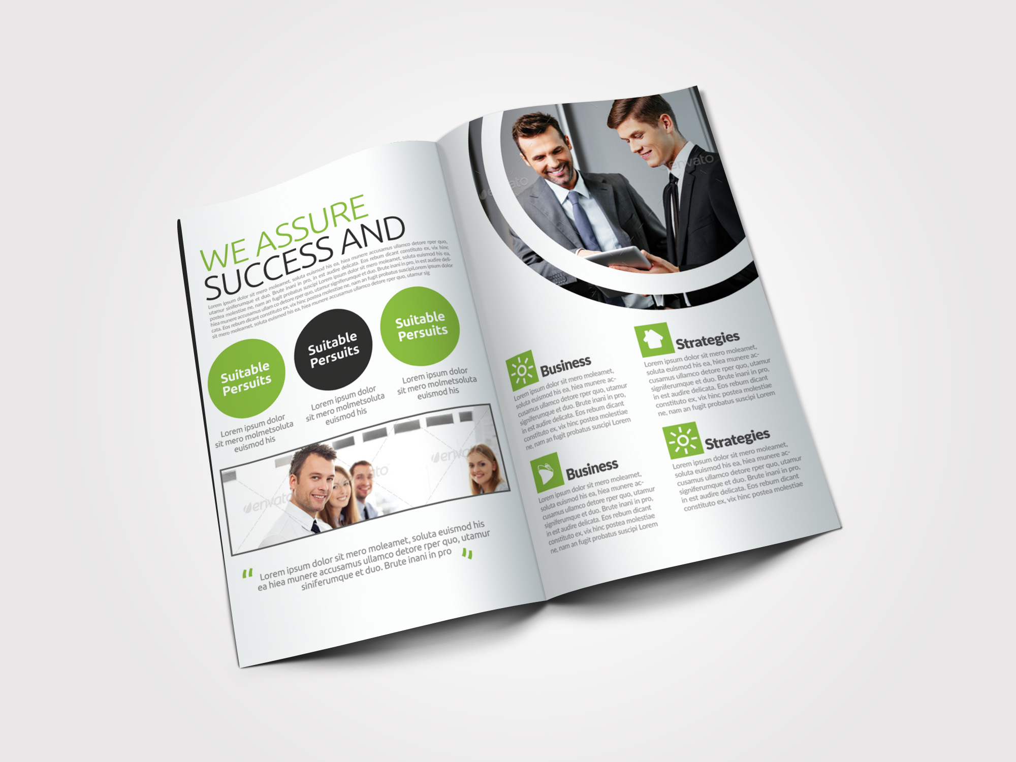 Clean Business Bifold Brochure example image 3