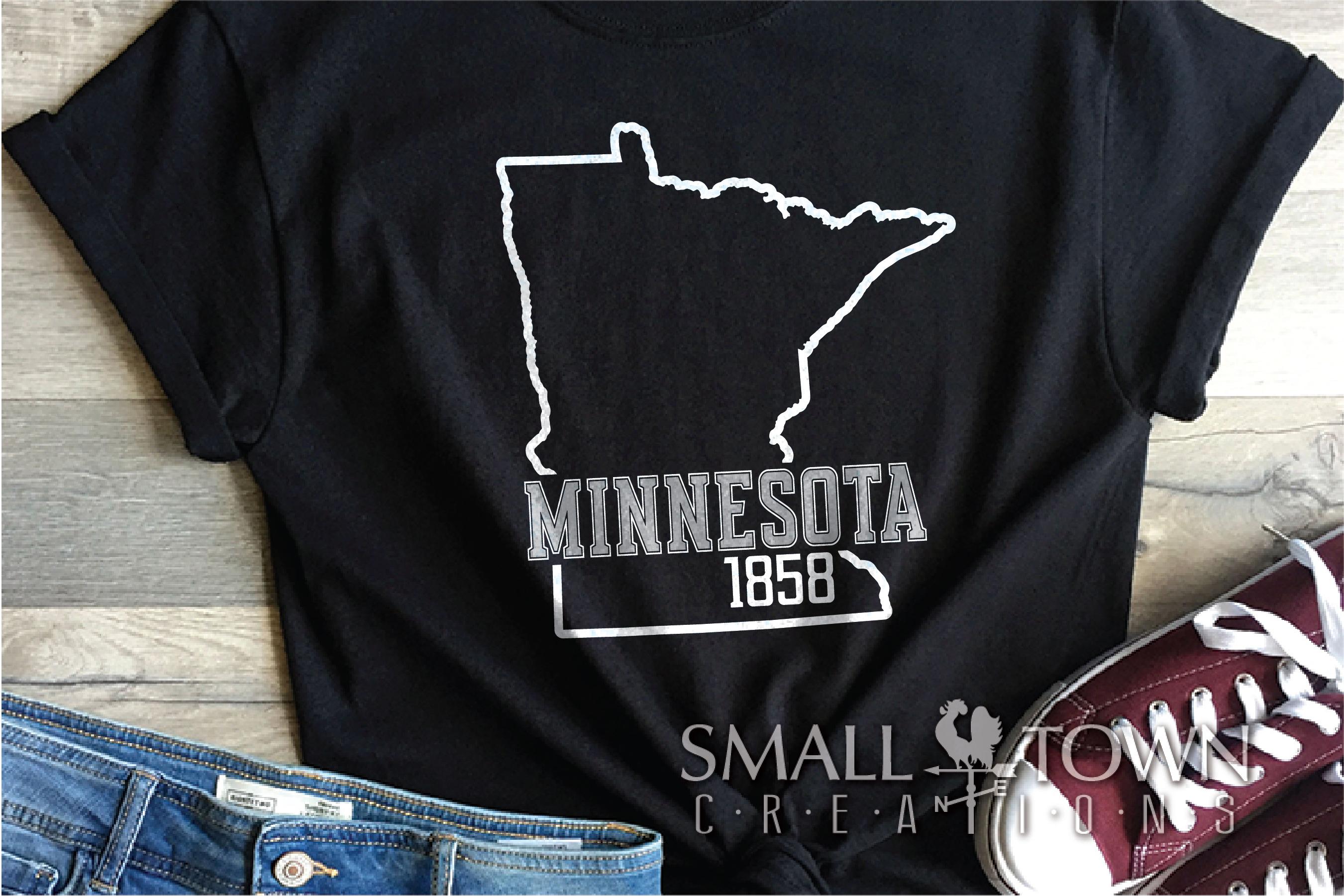Minnesota, 10,000 Lakes - slogan, PRINT, CUT & DESIGN example image 8