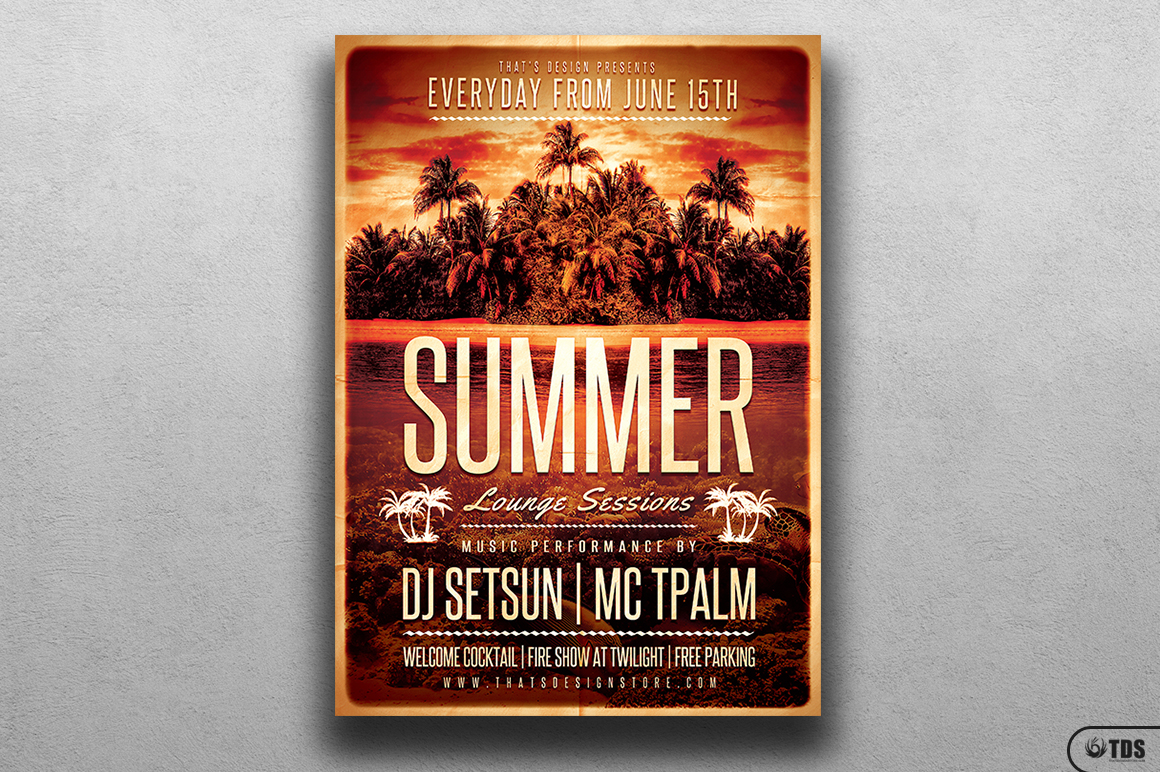 Summer Lounge Flyer Template V2 example image 1