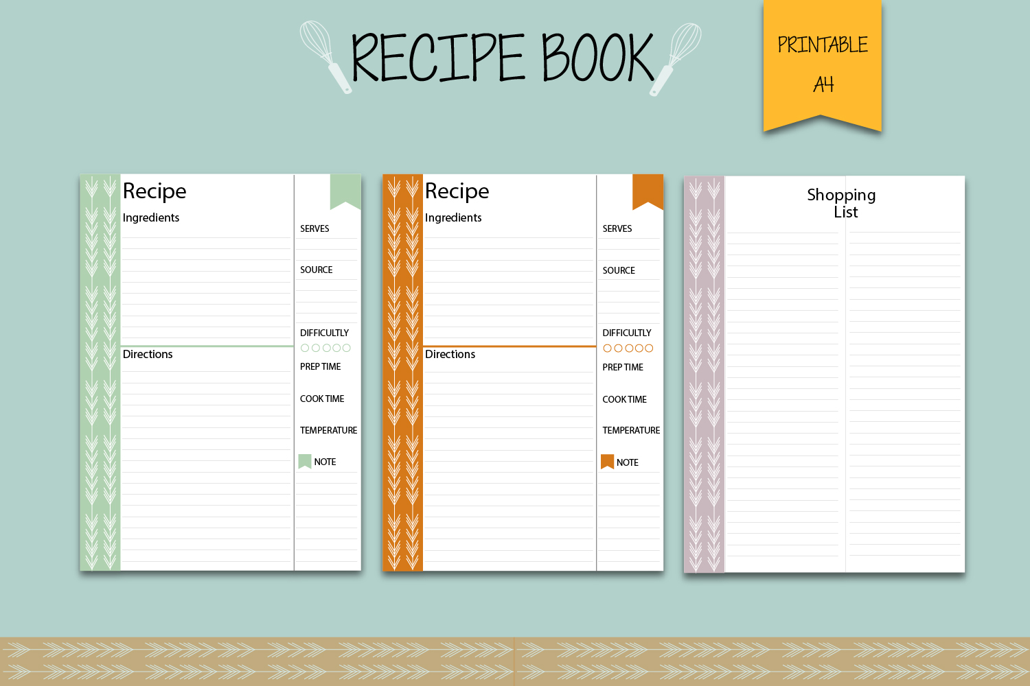 Recipe binder, Recipe book, Printable planner example image 5
