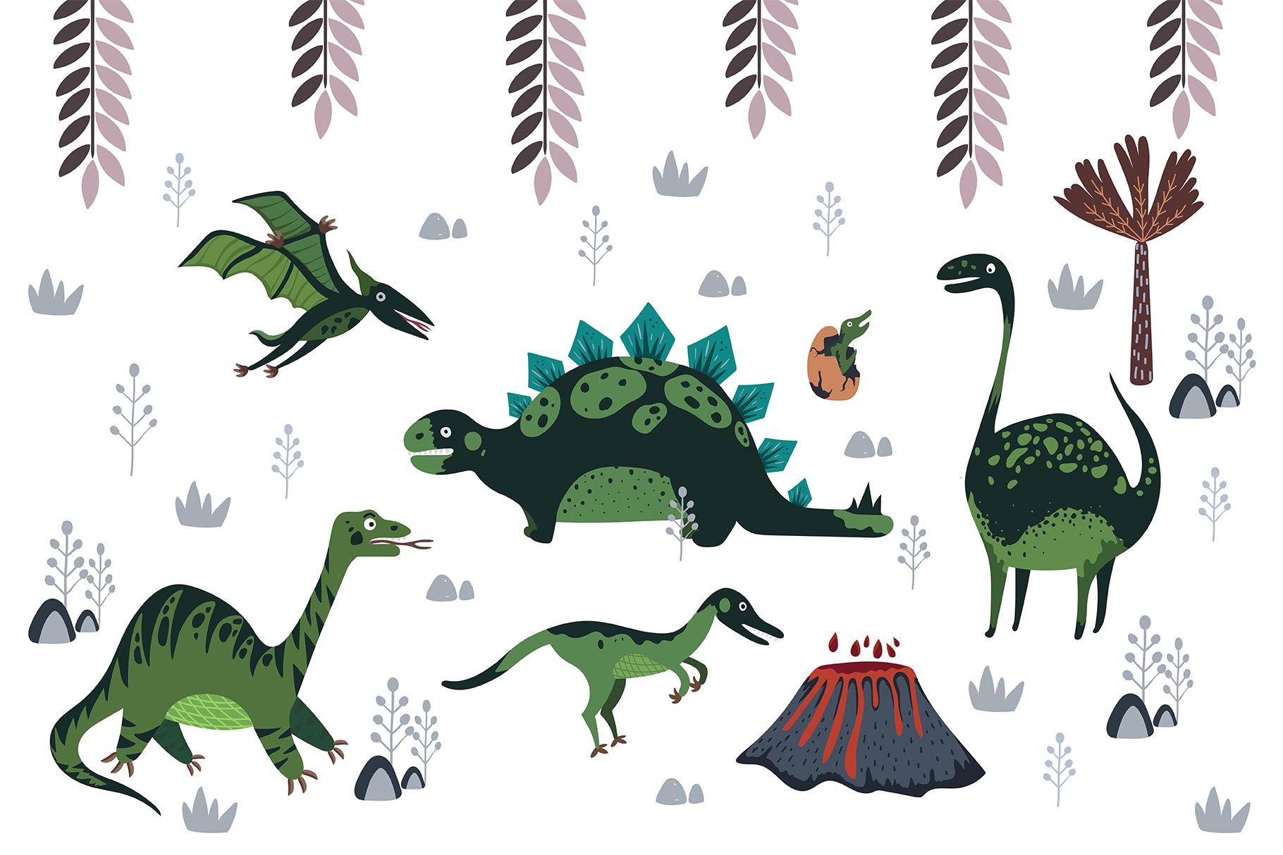 Cute cartoon dinosaurs example image 1