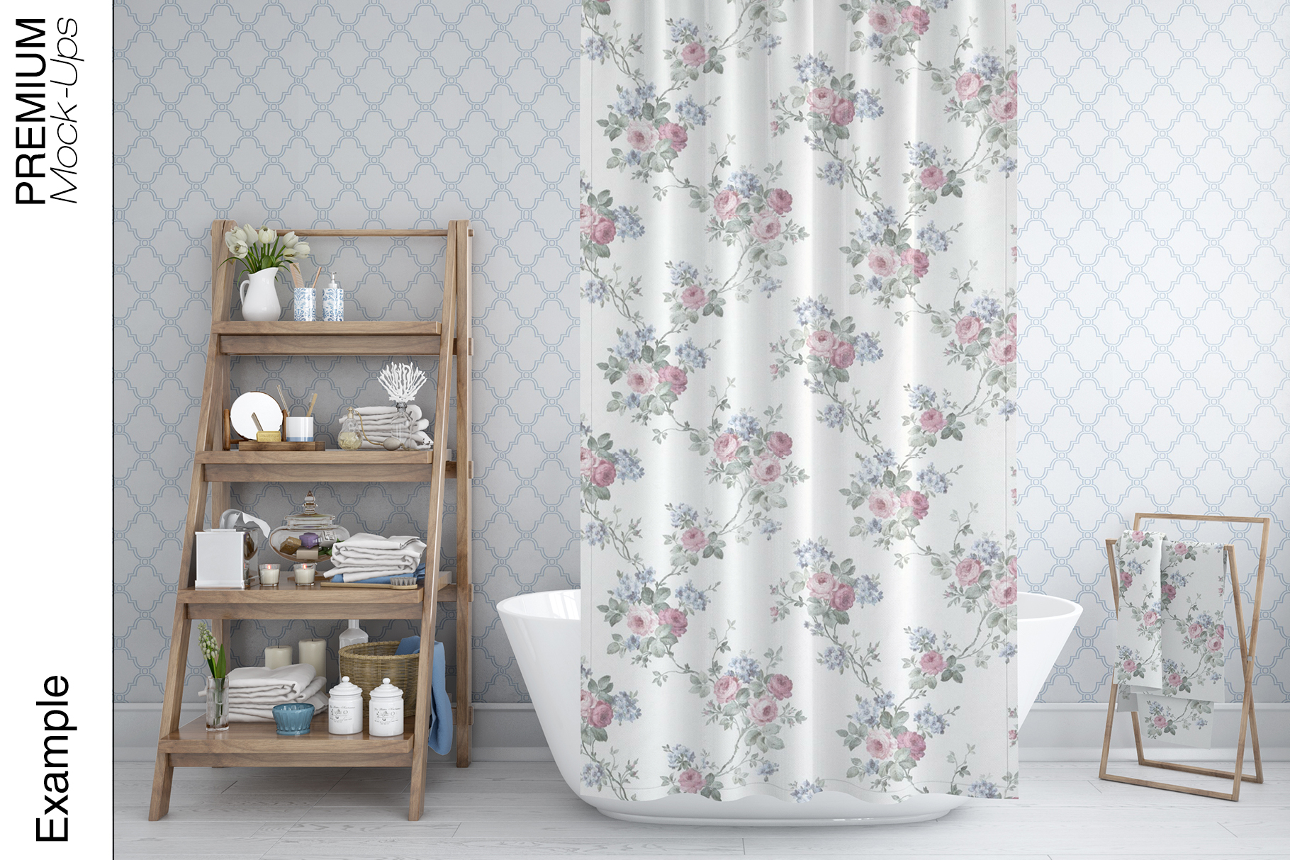 Bath Curtain Mockups example image 11