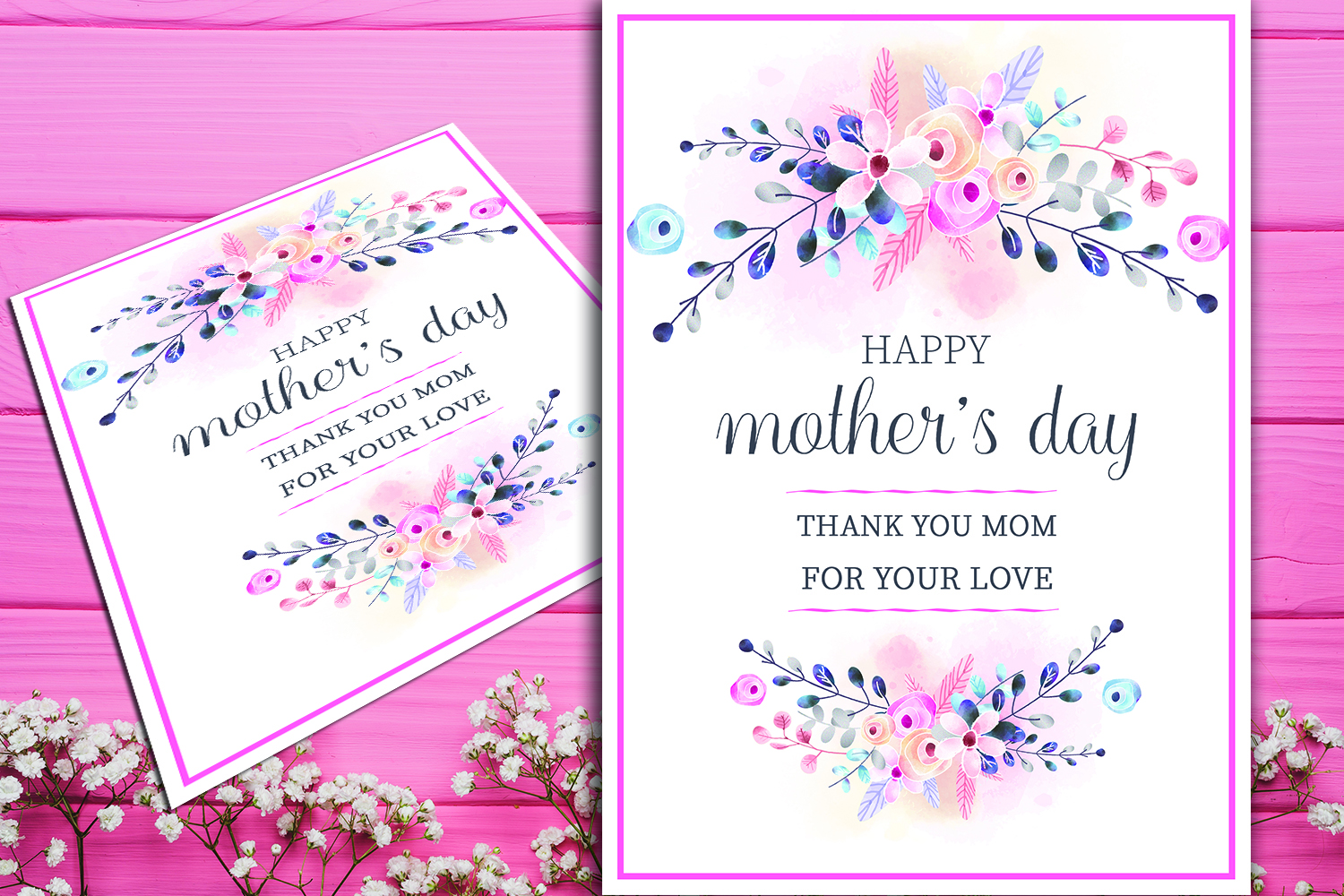 Floral mothers day greeting card floral mothers day greeting card example image 1 m4hsunfo
