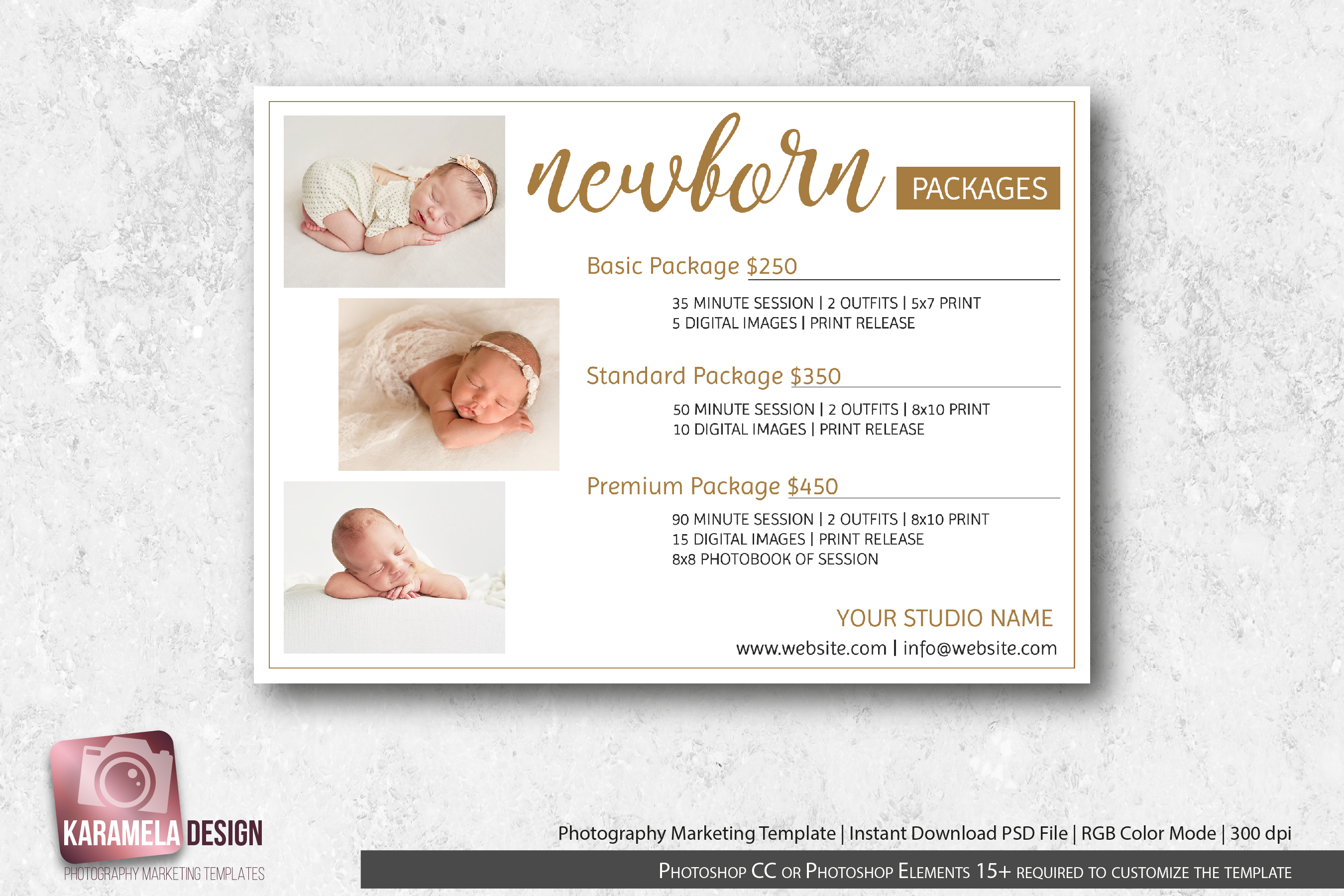 Newborn Photography Pricing Guide Template example image 1