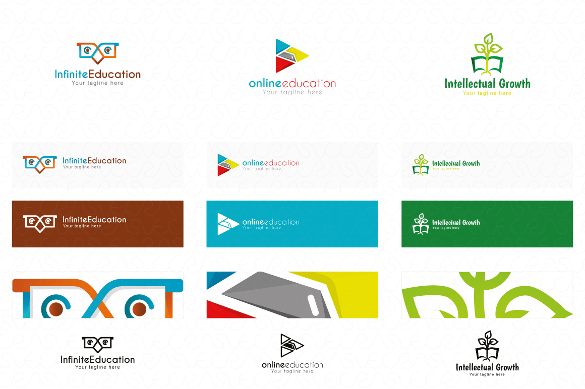 Education E-Learning & School Logo Pack of 10 Awesome Design example image 3