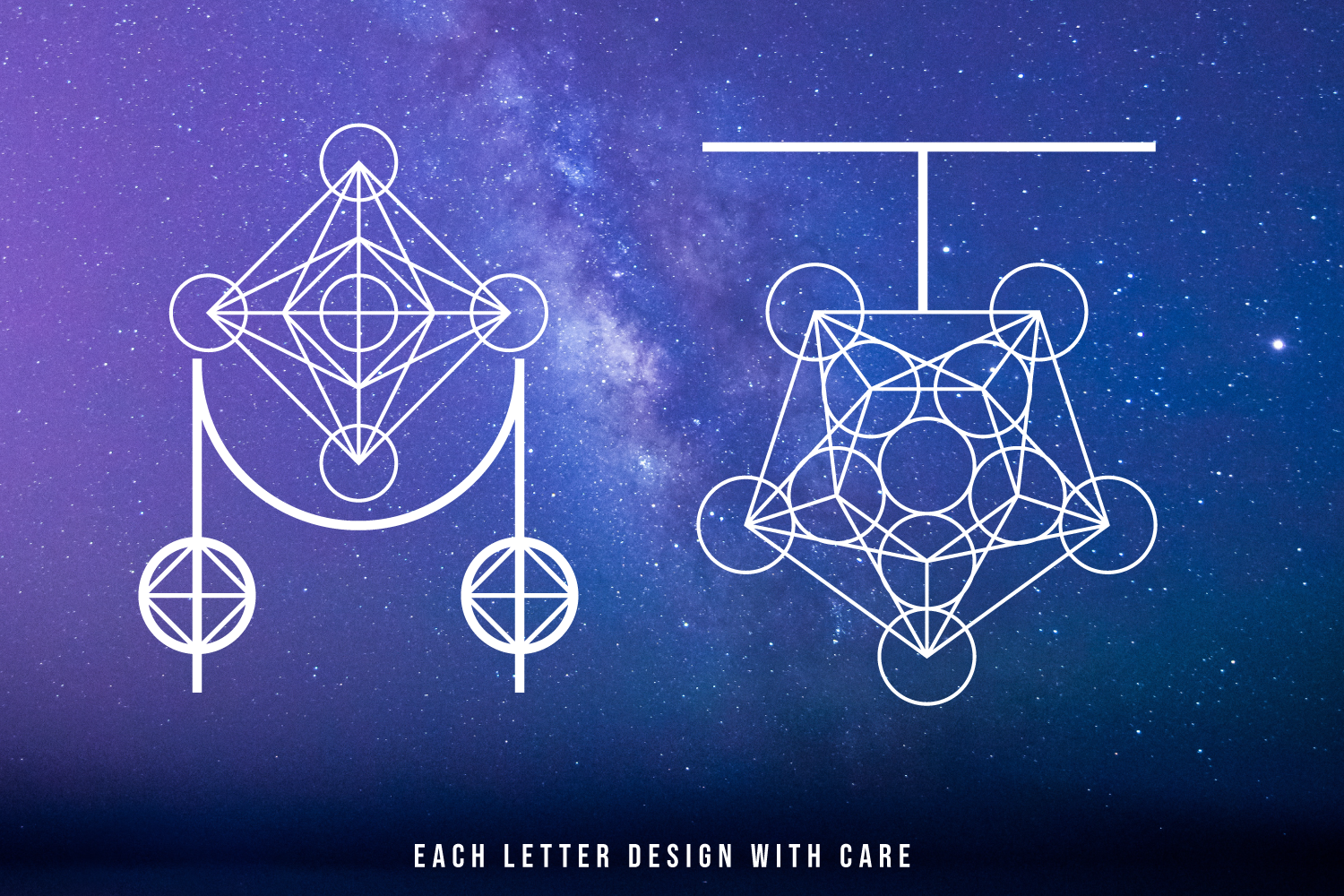 Magical Geometric Font example image 5