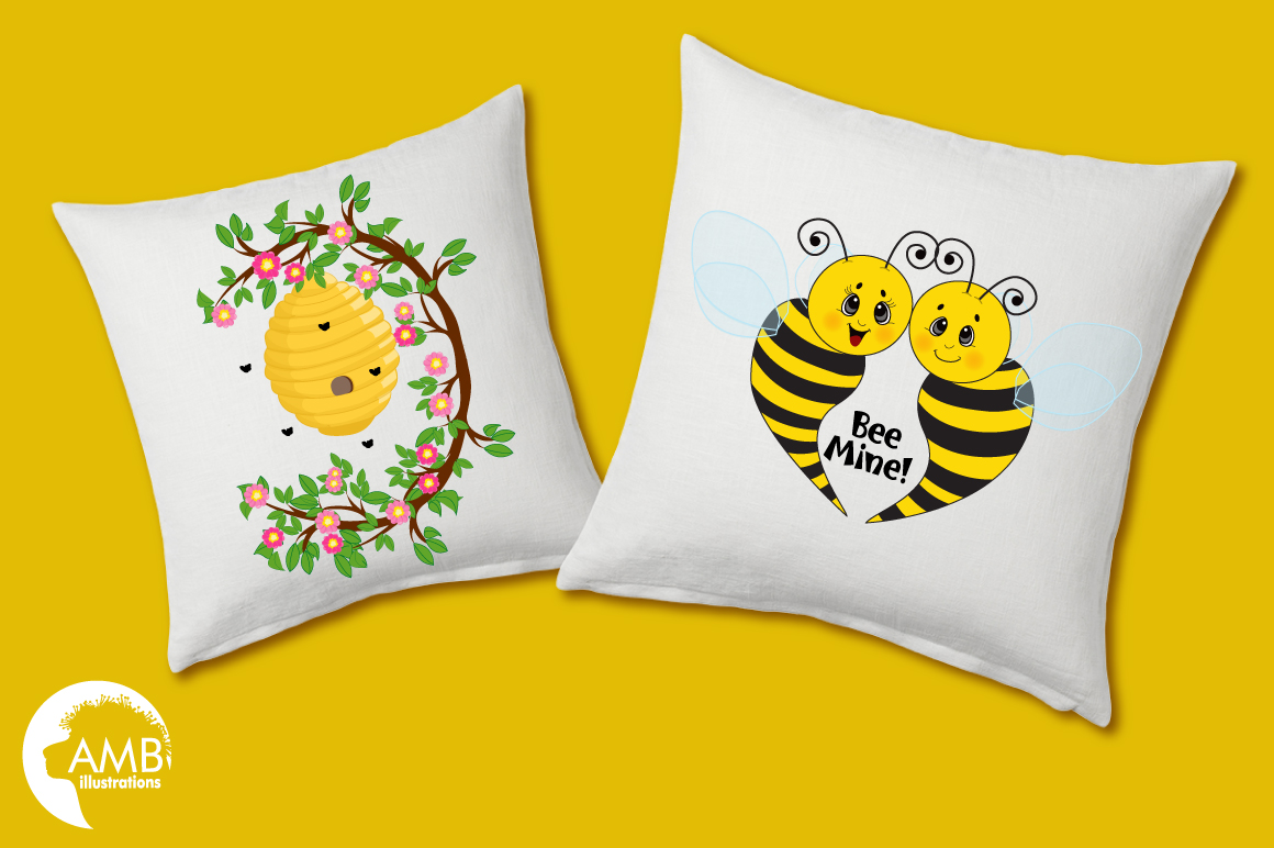 Bumble bee cliparts, graphics, illustrations AMB-921 example image 2