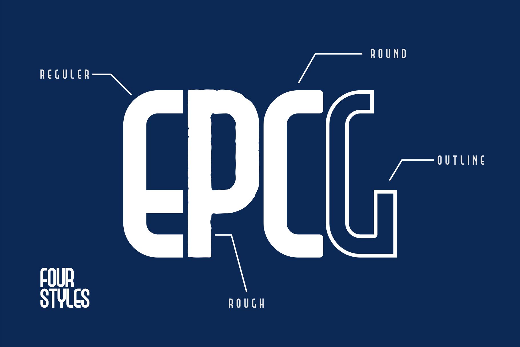 Epicologic Fonts 4 Style example image 4