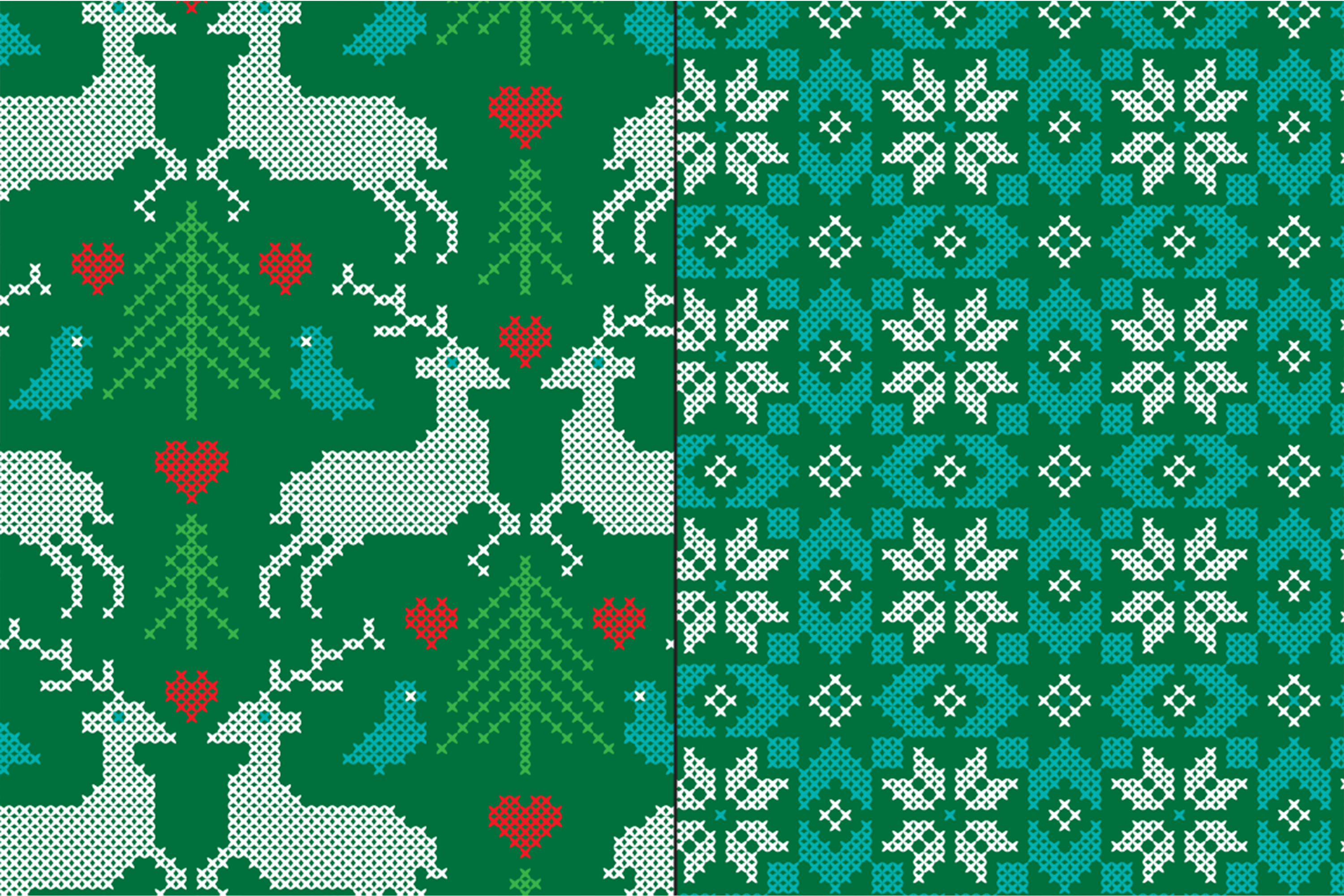Embroidered Nordic Patterns & Graphics Bundle example image 2