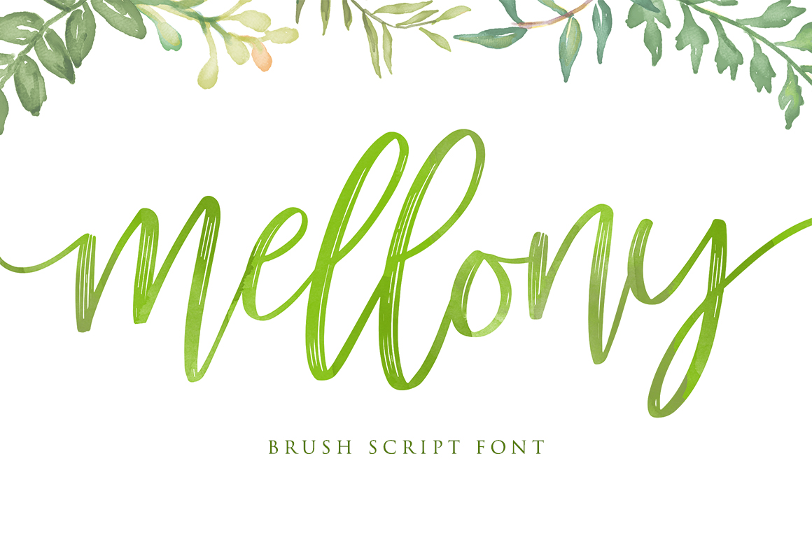 Mellony brush script font example image 1