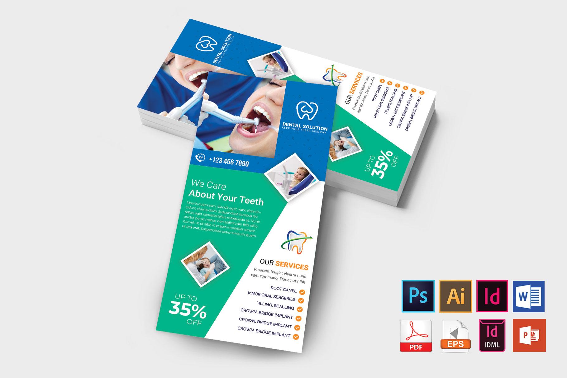 Rack Card | Dental DL Flyer Vol-03 example image 2
