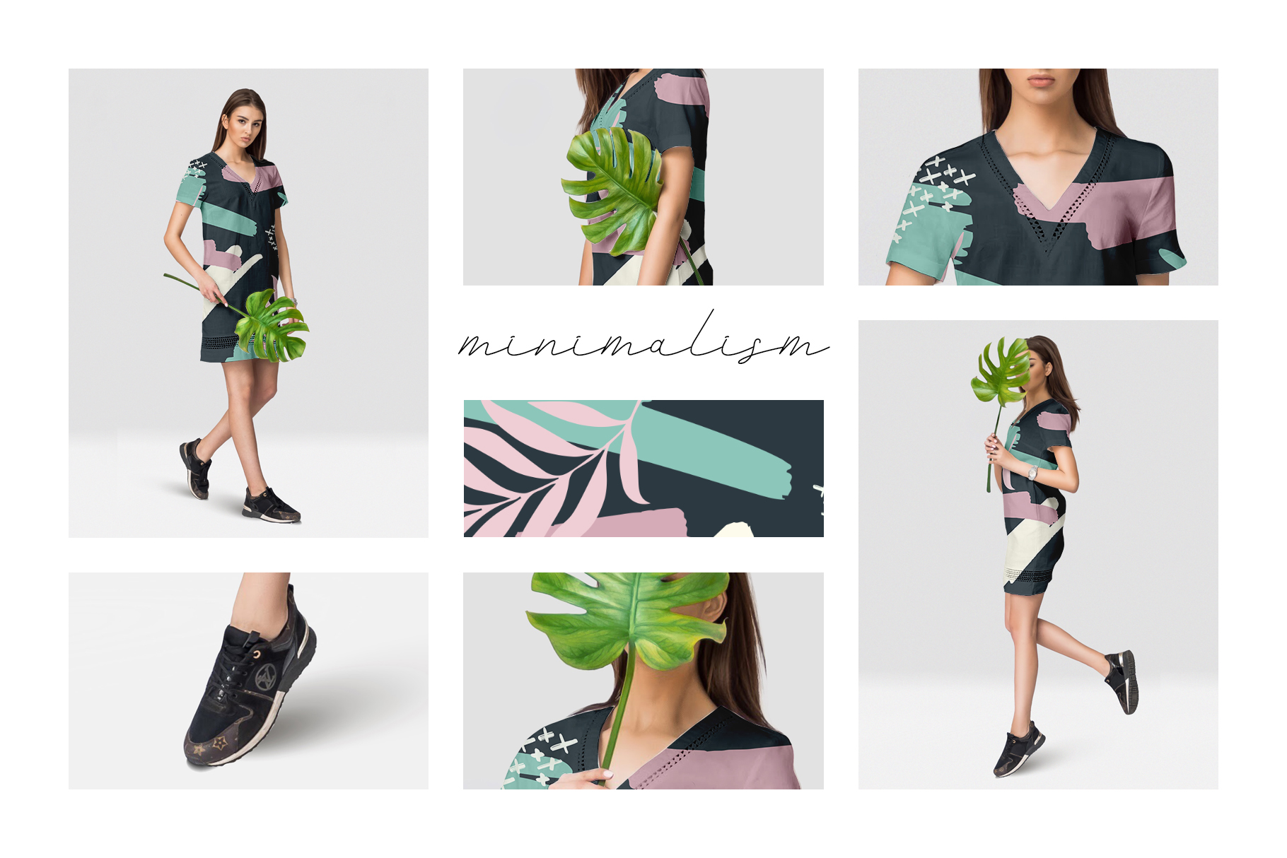 Female dress mockups Free demo example image 4