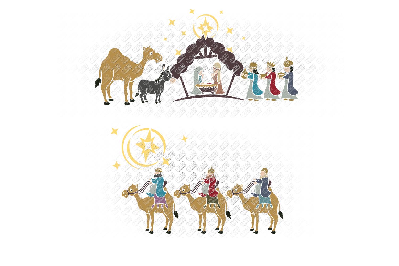 Nativity SVG Christmas Bundle in SVG, DXF, PNG, EPS, JPEG example image 5