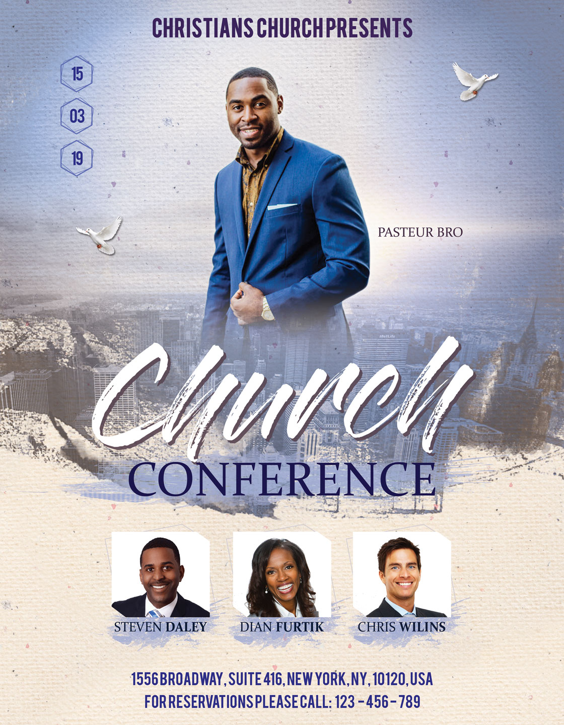 Church Conference Flyer Poster example image 3