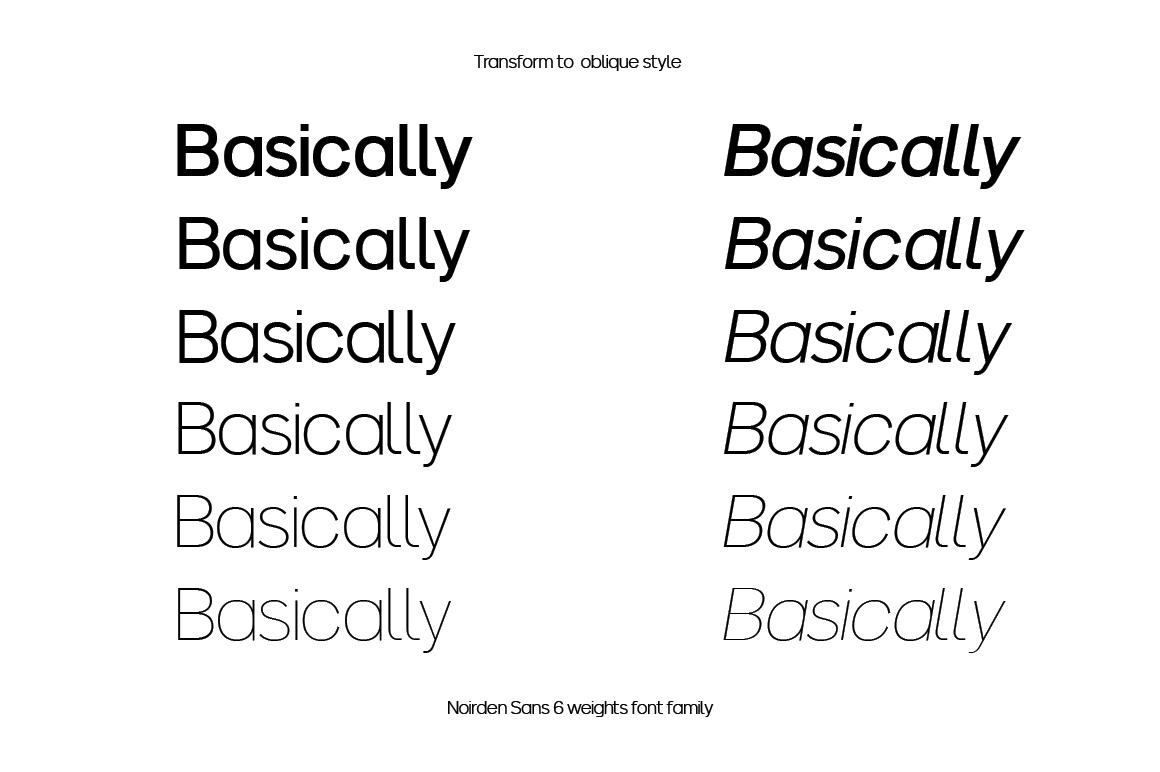 Noirden Sans Font example image 2