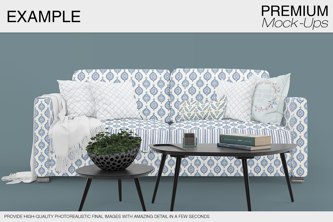 Sofa & Pillows Pack example image 12